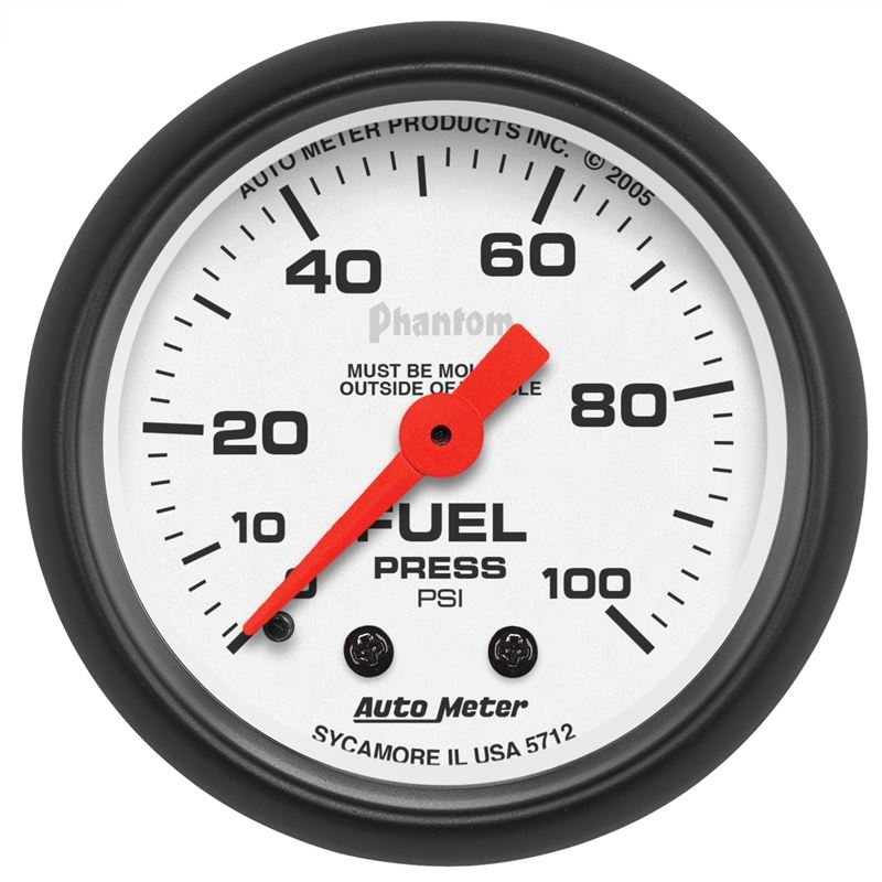 Autometer 5712 2 16 In  Fuel Pressure Gauge  0